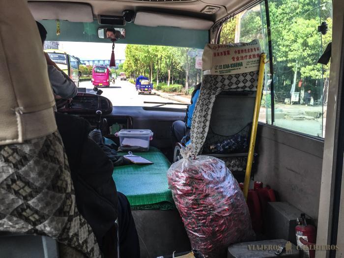 Autobús de Zhangjiajie a Wulingyuan